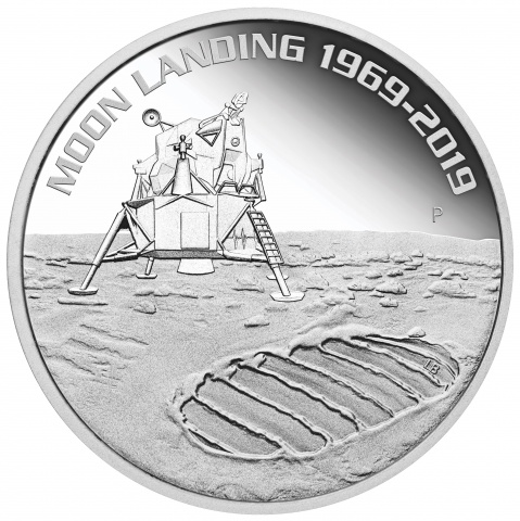 50TH ANNIVERSARY OF THE MOON LANDING 1 oz Proof Silver Coin