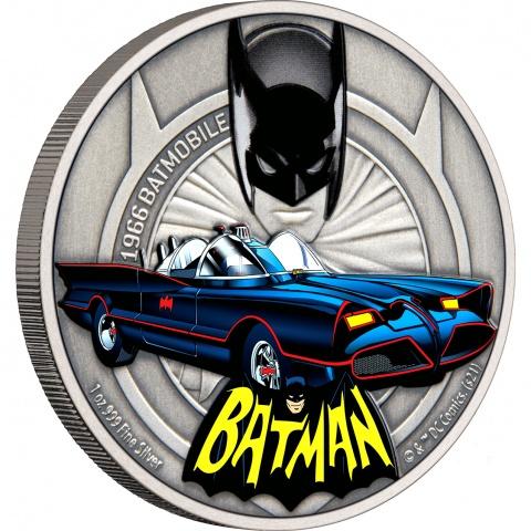 1966 Batmobile 1oz Silver Coin reverse