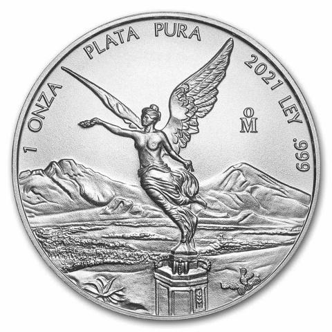 Libertad 1 oz silver coin BU Mexico 2021 reverse