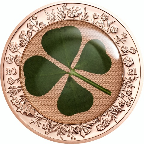Ounce of Luck 1 oz rose gold plated silver coin