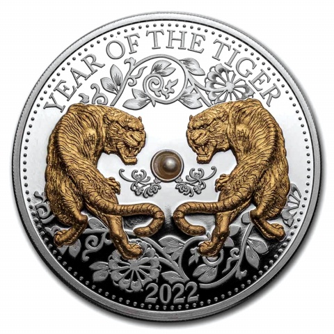 Year of Tiger 1 oz proof silver coin reserve