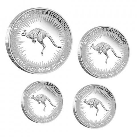 Australian Kangaroo Four-Coins Proof Set