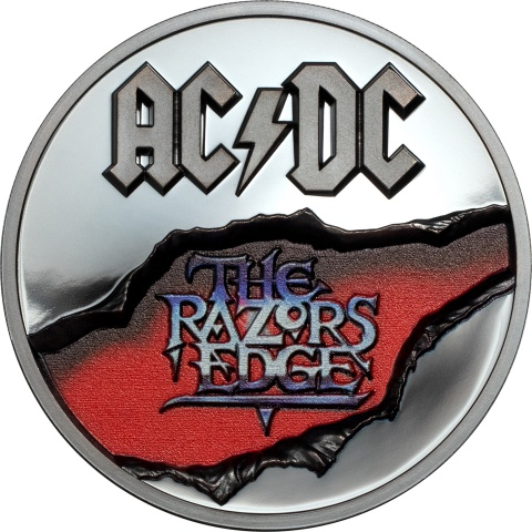 AC/DC–The Razors Edge 2 oz Silver Coin Black Proof