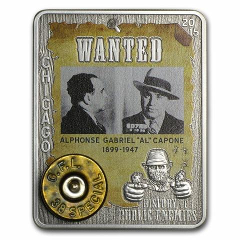 History of Public Enemies:AL Capone 1oz silver
