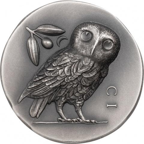 Athena's Owl 1 oz silver coin reverse