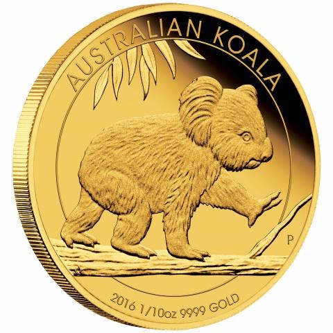 Australian Koala 1/10 Proof Gold Coin