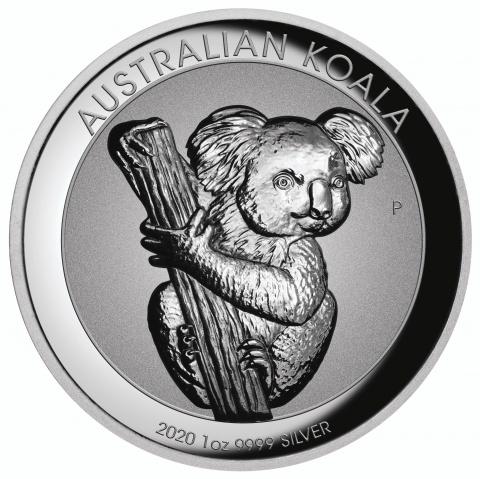 Australian Koala Incused 1 oz Proof Silver Coin