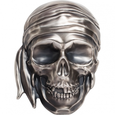 Big Pirate Skull half kilo silver coin reverse