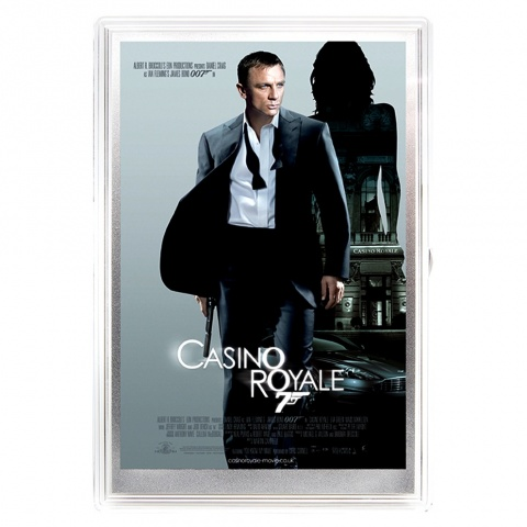 007 James Bond Casino Royale movie poster silver foil reverse