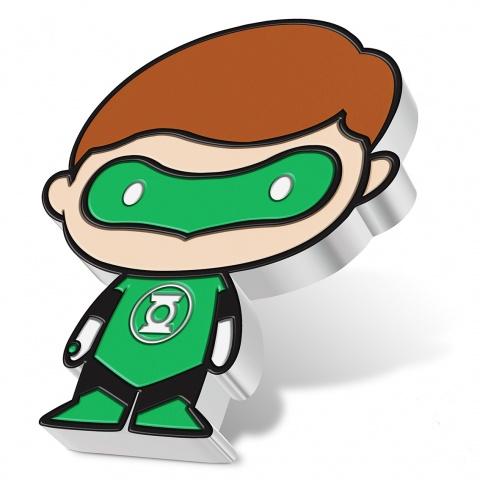 Chibi DC Comics Series Green Lantern 1 oz silver coin proof reverse angled