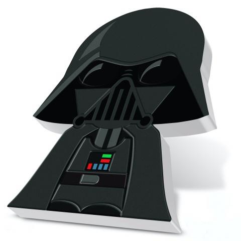 Darth Vader Star Wars Chibi 1 oz silver coin side view