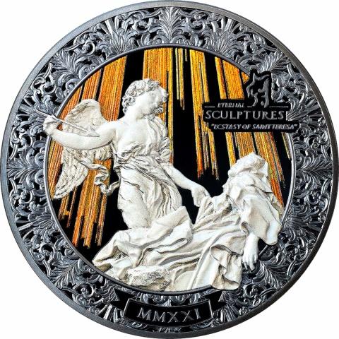 Ecstasy of Saint Teresa  5 oz Silver Coin reverse