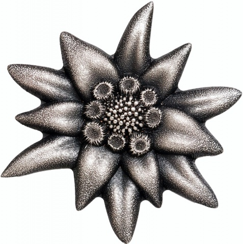 Edelweiss–Mountain Star 1oz Antique Finish Silver Coin