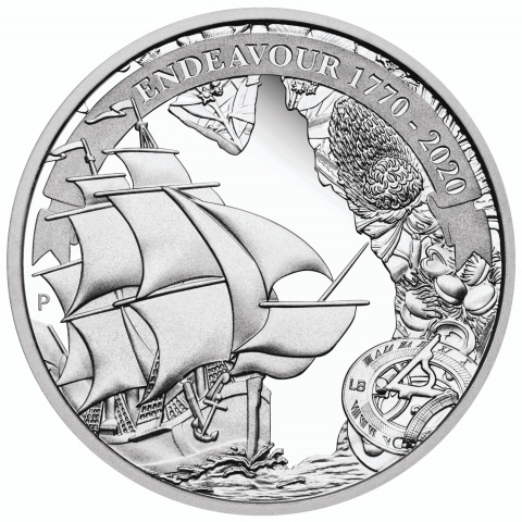 Voyage of Discovery Endeavour 1770-2020 1oz Silver Proof Coin