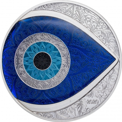 THE EVIL EYE 1 oz Proof Silver Coin