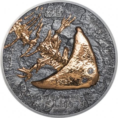 Diplocaulus - Evolution of life 1oz silver coin