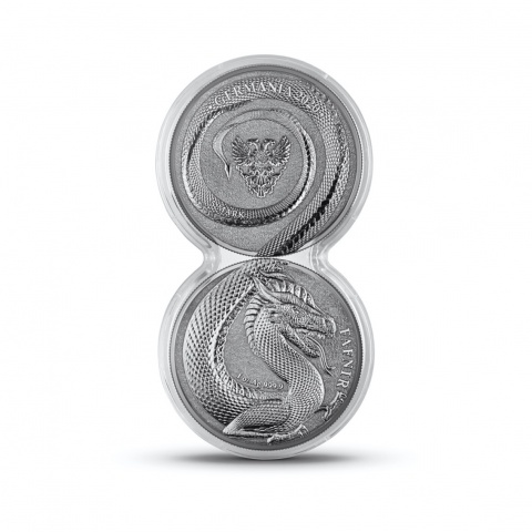 Fafnir 2 x 1 oz silver crown double capsule
