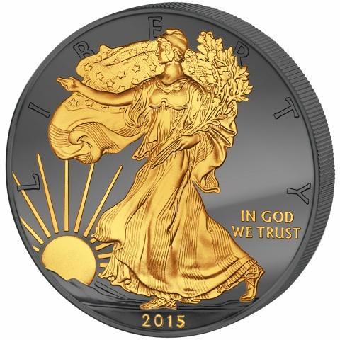 Golden Enigma Walking Liberty  silver dollar USA 2015
