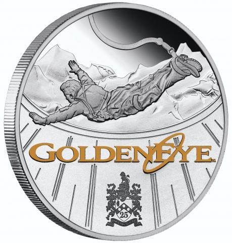 James Bond Golden Eye 25th Anniversary 1oz Silver Proof Coin rvererse