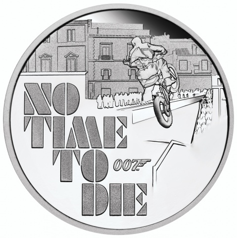 James Bond No Time To Die 1oz silver proof coin
