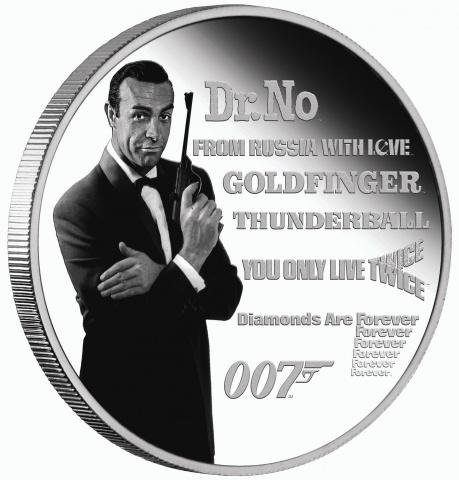 James Bond Sean Connery 1 oz silver coin reverse