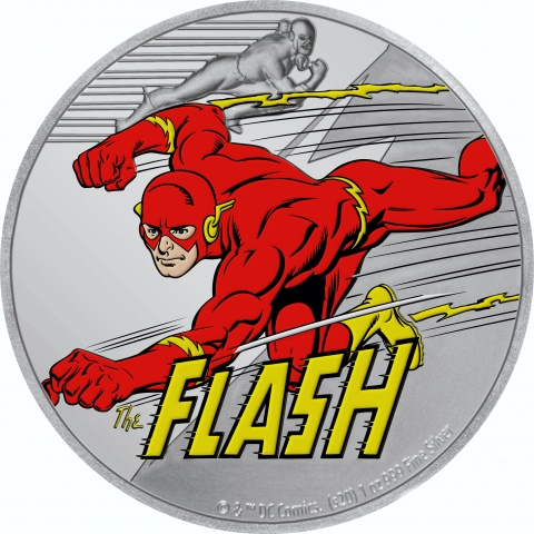 The Flash Justice League 1 oz silver coin