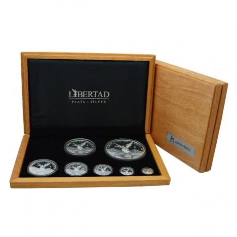 MEXICAN LIBERTAD 7 Proof Silver Coin Set 2016