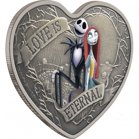 Disney The Nightmare Before Christmas 1 oz Silver Coin  reverse