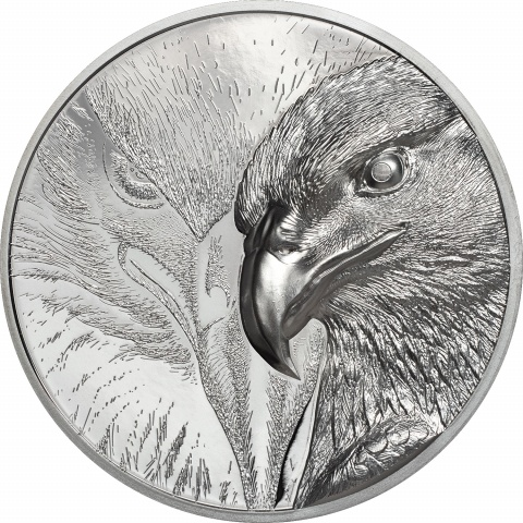 Majestic Eagle Silver 3 oz High Relief Double Side Proof Silver Coin