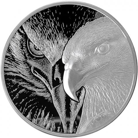 Majestic Eagle 10 oz high-relief silver round