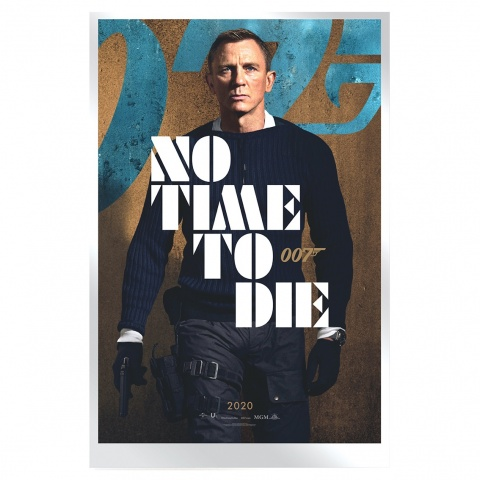 James Bond Time To Die Movie Poster 35g Silver Foil reverse