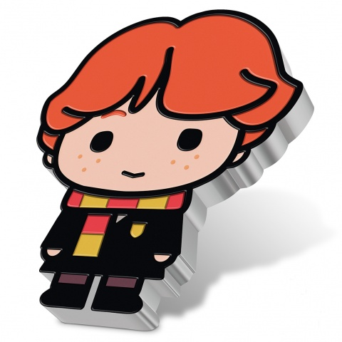 Ron Weasley Harry Potter Chibi 1oz silver coin angled reverse