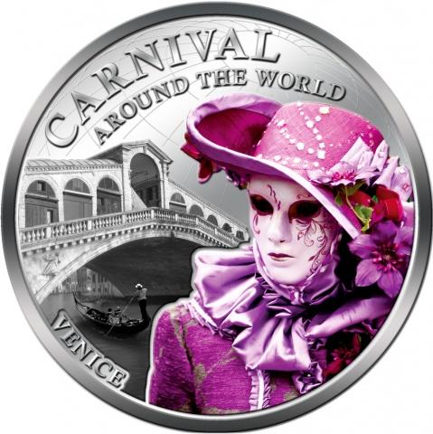 Carnival Around World  Coin Venice  Italy -FIJI 2012 1 $- reverse