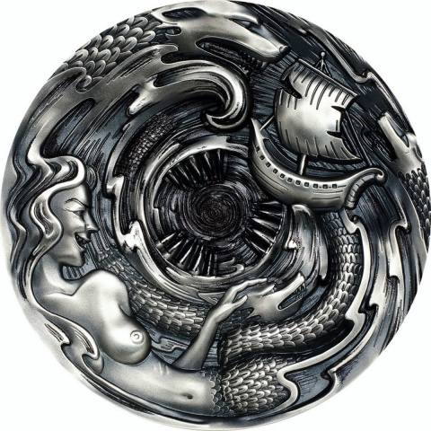Scylla and Charybdis Evil within 3 oz silver coin