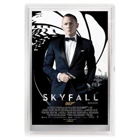 James Bond Movie Poster Skyfall silver foil reverse