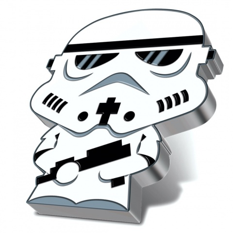 Stormtrooper Chibi Star Wars Series 1 oz Proof Silver Coin obverse