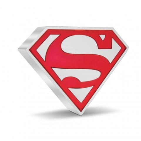 SUPERMAN Shield 1 oz Silver Coin reverse