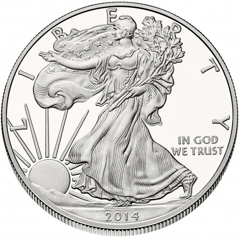 2014 American Silver Eagle 1oz silver coin proof