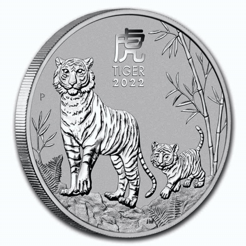 Year of the Tiger 1 oz silver coin BU Australia reverse