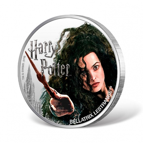 Harry Potter Series- Bellatrix Lestrange 1oz Silver Coin