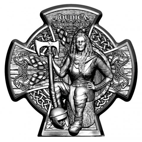 Boudica – Warrior Queen 3oz Silver Coin Antiqued