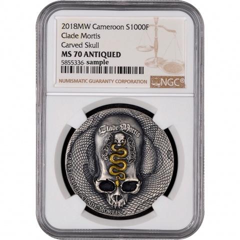 Clade Mortis 1 oz silver coin reverse