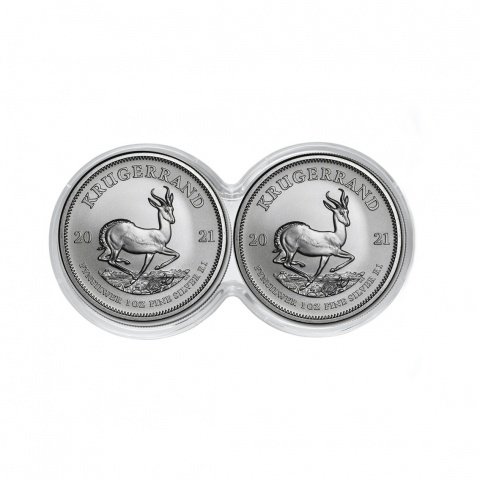 Krugerrand double capsule 2 x 1 oz silver coin reverse