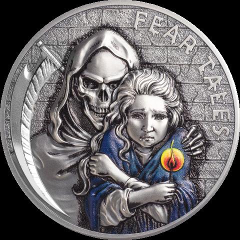 Little Match Girl 2 oz HR silver coin
