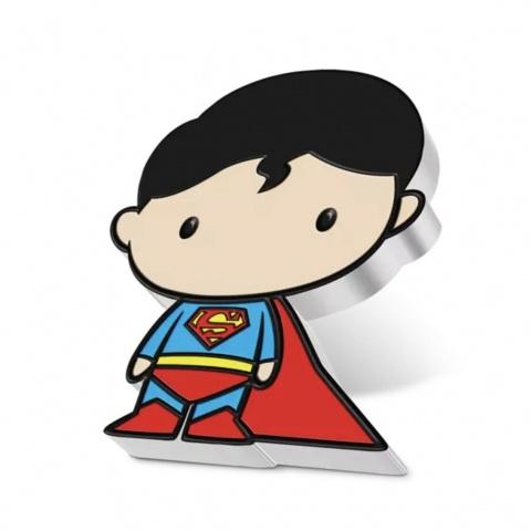 Chibi Superman DC Comics 1 oz Proof Silver Coin angled