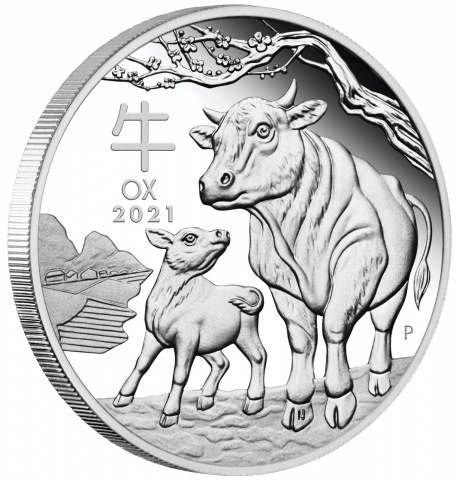Year of The Ox 1 oz silver coin proof