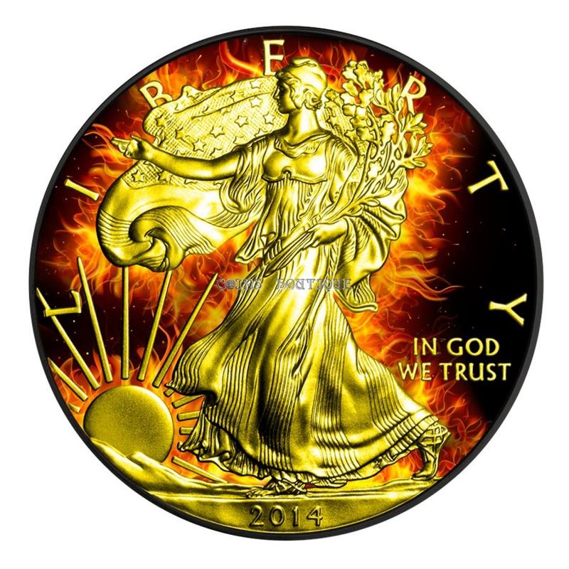The Burning Walking Liberty 2014 Usa 1 Oz Ruthenium Gold