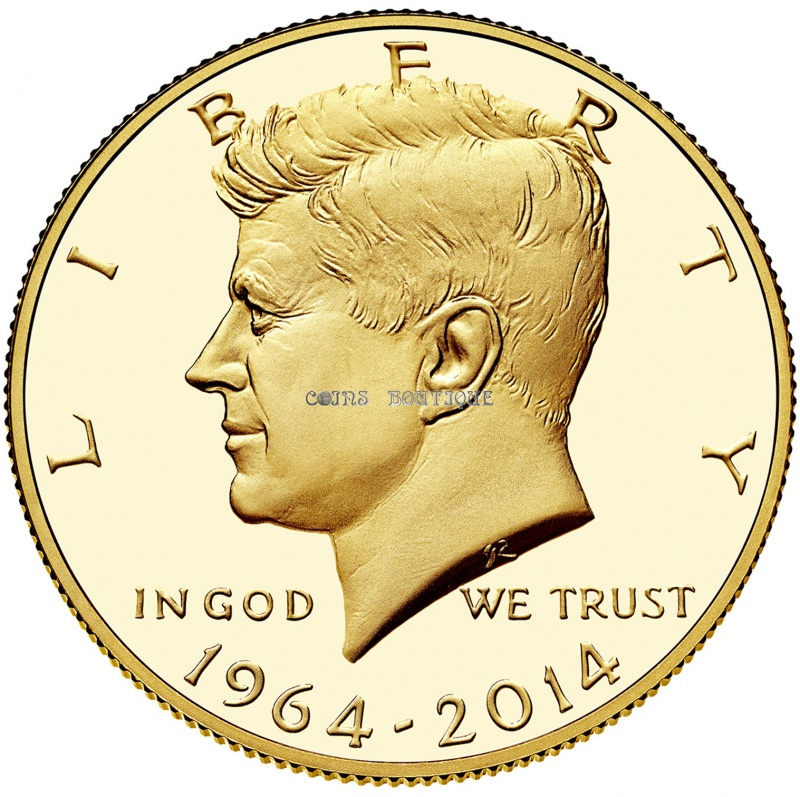 Gold Coins John Kennedy 50th Anniversary Gold 9999 Coin