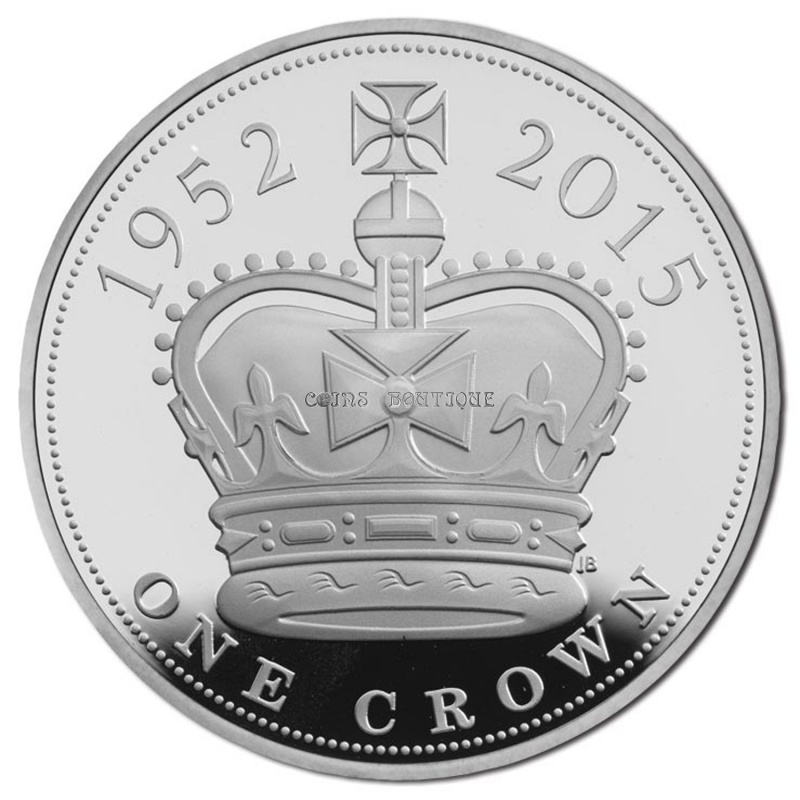 The Royal Birth 2015 United Kingdom 5 Silver Proof Coin: Silver Coins-The Longest Reigning Monarch 2015 UK £ 5 Fine