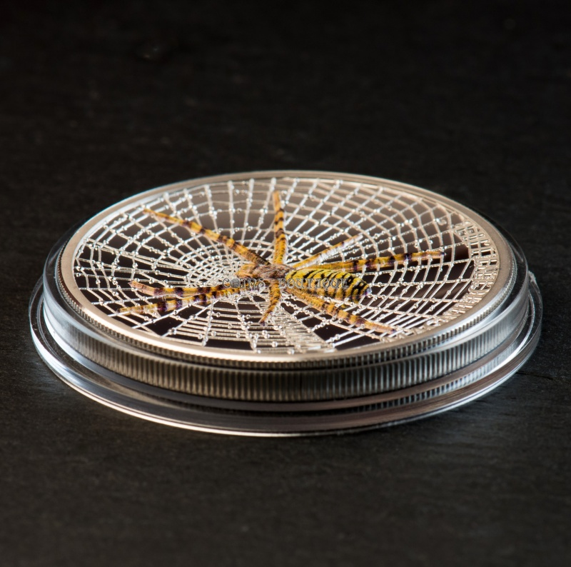 Silver Coins-WASP SPIDER 1oz Silver Coin Proof Cook